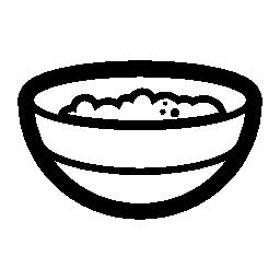 お粥のボウルの無料のアイコン