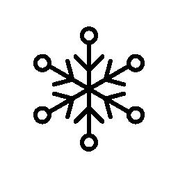 小さな円ポイント無料アイコンと雪