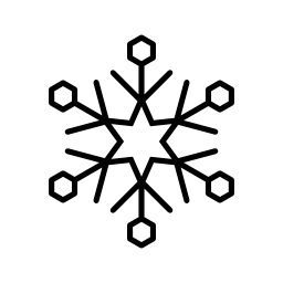 星と六角形の無料アイコンとスノーフレーク