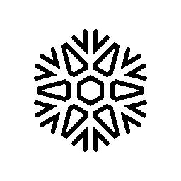 スノーフレーク図形の輪郭の無料アイコン