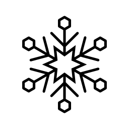 雪フレーク アイス無料のアイコン