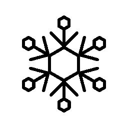 冬は雪の結晶、バリアント無料アイコン