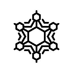 冬のフレークと幾何学的図形の無料のアイコン