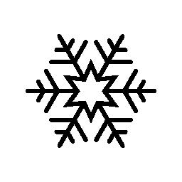 雪フレーク無料アイコン