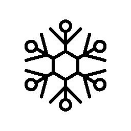 冬のシーズンの無料のアイコンの間に雪のフレーク