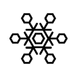 氷結晶フレーク無料アイコン