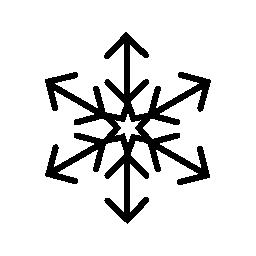 水晶薄片矢印のヒント無料のアイコン