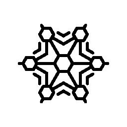 さまざまな図形の無料アイコンとスノーフレーク