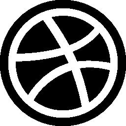 バスケット ボール ボール シルエット無料アイコン