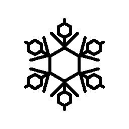 雪の結晶の繊細さと脆さ無料のアイコン