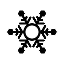 六角形の無料アイコンとスノーフレーク