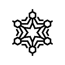 スノーフレーク スター デザイン無料のアイコン