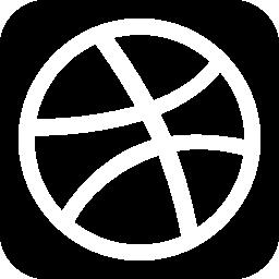 Dribbble 社会的ネットワークのロゴの無料アイコン