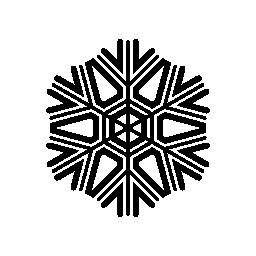 詳細なデザイン無料のアイコンとスノーフレーク