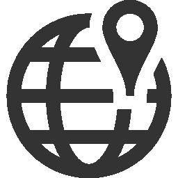 世界は無料のアイコンをグリッド上のプレース ホルダーにマップします。