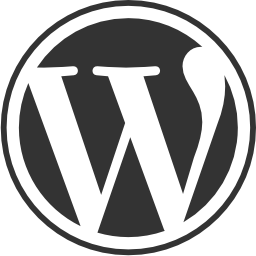 ワードプレス円形 web サイト ロゴの無料アイコン
