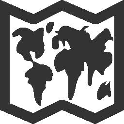 世界地図トリフォールド無料アイコン
