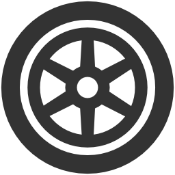 車両のホイールの無料アイコン