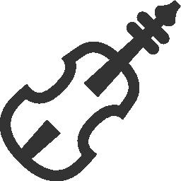ヴァイオリン楽器無料アイコン