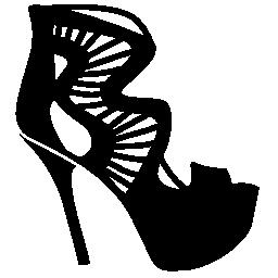 スタイリッシュなプラットフォーム stilettos 無料アイコン
