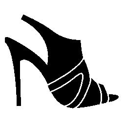 スタイリッシュな女性の靴の無料アイコン