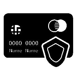 マスター カードのクレジット カード保護無料のアイコン