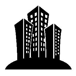 建築都市の無料アイコンのセット