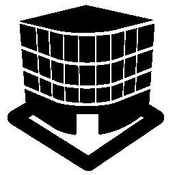 3 次元の建物を表示する無料のアイコン