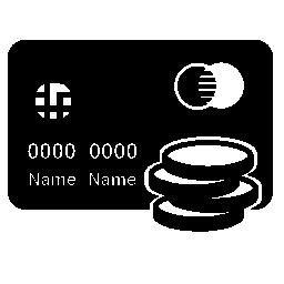 コイン無料アイコンとマスター カードのクレジット カード