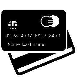 クレジット カードの前面と背面の無料アイコン