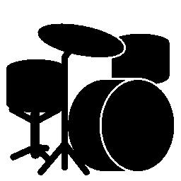 ドラム セット シルエット無料アイコン