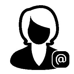 シュトルーデル記号を持つ女性のプロファイル ユーザー無料アイコン