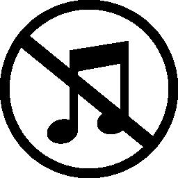 ミュート音楽無料アイコン