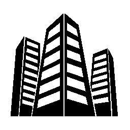 都市建物無料アイコン