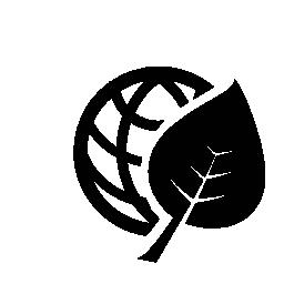 惑星のグリッドとリーフ無料アイコン