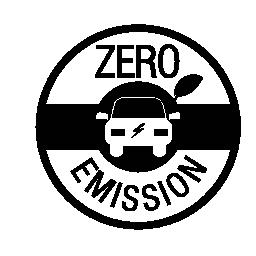 ゼロ放出のバッジの無料のアイコン