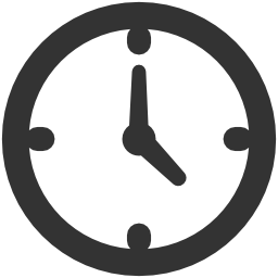 円形時計概要無料アイコン