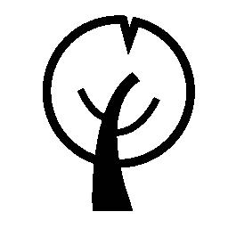 無料のアイコンを円形の葉の木