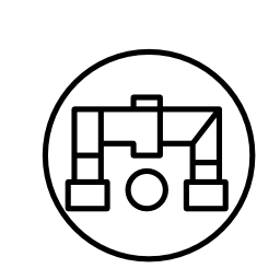 配管アウトライン シンボル無料アイコン