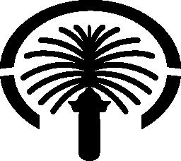 パーム ジュメイラ記念碑、ドバイ無料アイコン