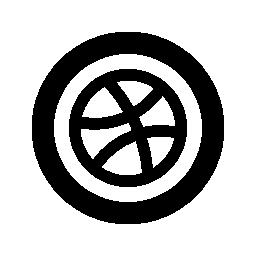 ドリブル円形無料アイコン