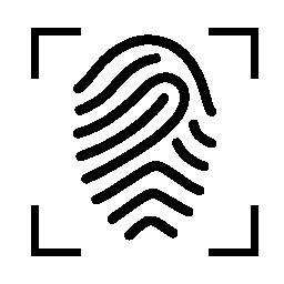 十字フォーカス無料アイコンの付いた指紋します。