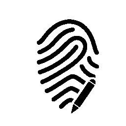 ペン無料アイコンが付いている印を指紋します。