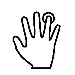 指紋スキャン概要無料アイコン