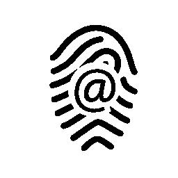 アロバ記号無料アイコンと指紋します。