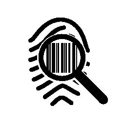 バーコードの無料のアイコンのように見える指紋を拡大