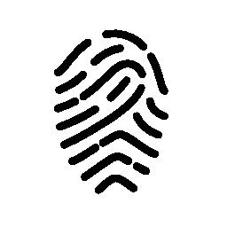 指紋の輪郭のバリアント無料アイコン