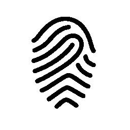 指紋の簡単な概要無料アイコン