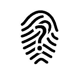 疑問符アイコンは無料と指紋します。