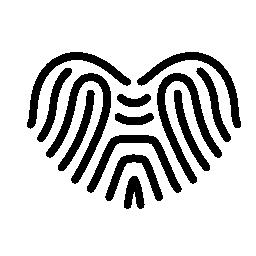 ハートの無料アイコンのような形の指紋